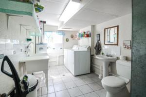 2pc bathroom/laundry- Basement
